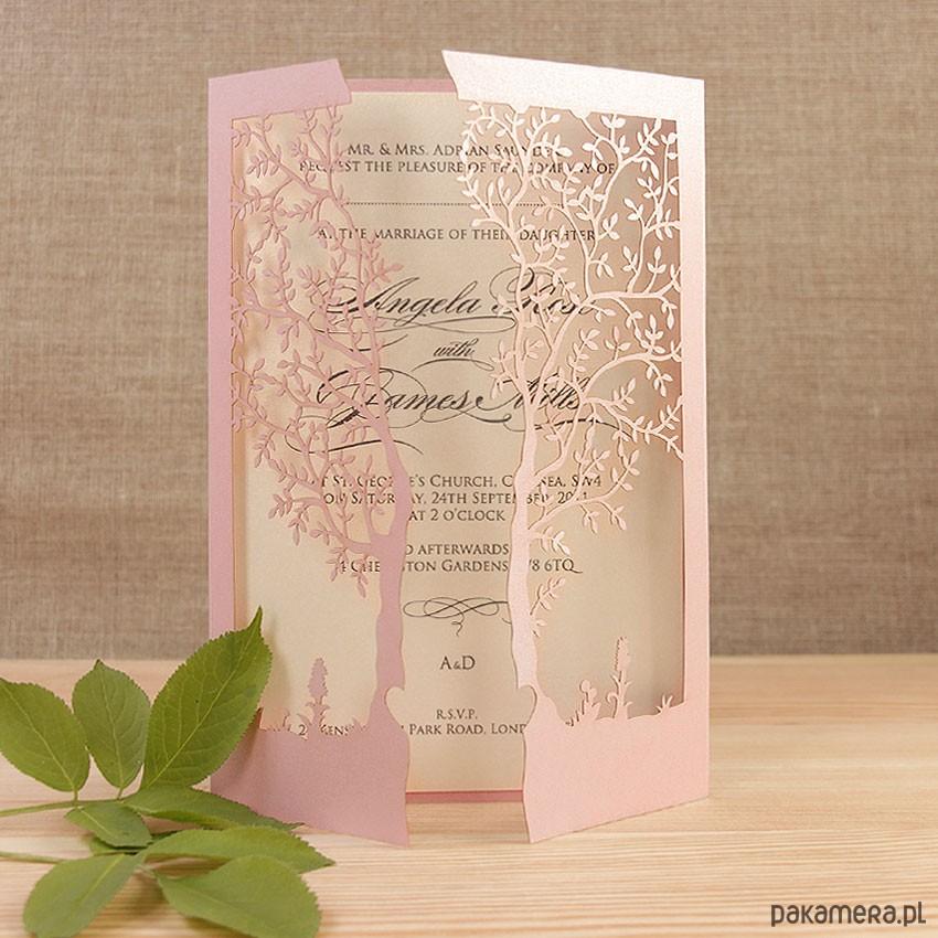 Zaproszenia ślubne Ozdobne Drzewo Ślub Zaproszenia