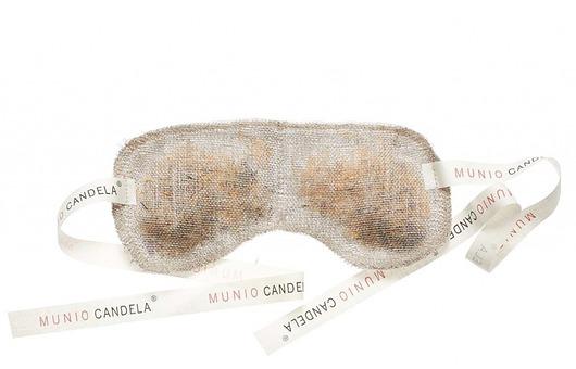 opaski na oczy-Lniana opaska na oczy - terapia oczu