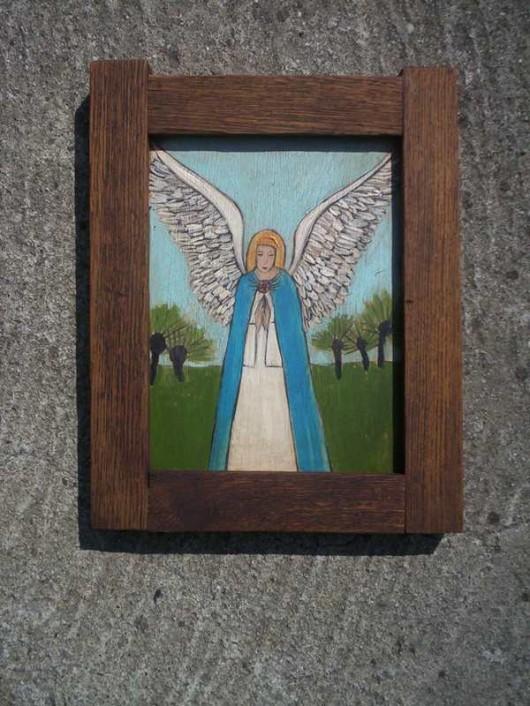 dodatki - plakaty, ilustracje, obrazy - malarstwo-Anioł z wierzbami