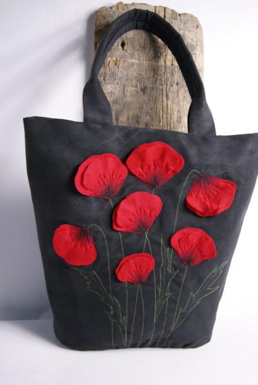 torby na ramię - damskie-Zamszowe Maczki XL