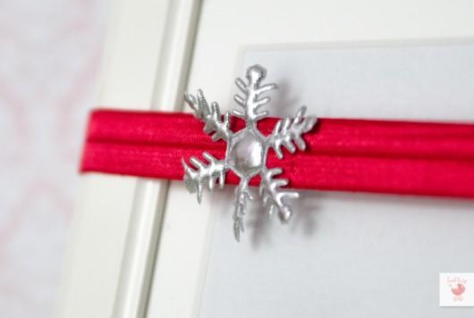 Boże Narodzenie - inne-Opaska ze śnieżynką