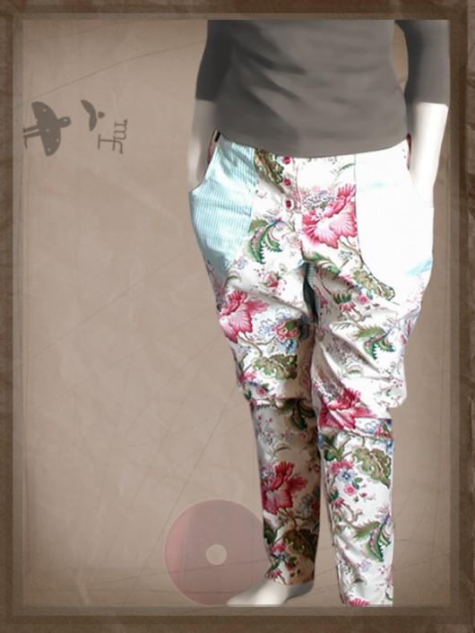 spodnie - inne-retro barwy - kwietnie