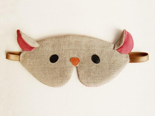 opaski na oczy-Opaska na oczy do spania z etui - Mysz