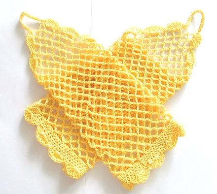 rękawiczki-Żółte ażurowe rękawiczki bez palców
