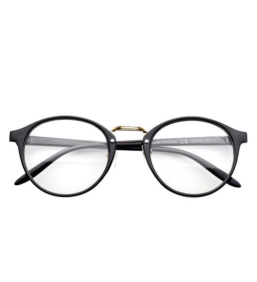 okulary-Vichy Clear Lens Black