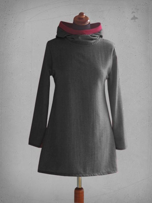 sukienki-trapez - tweed