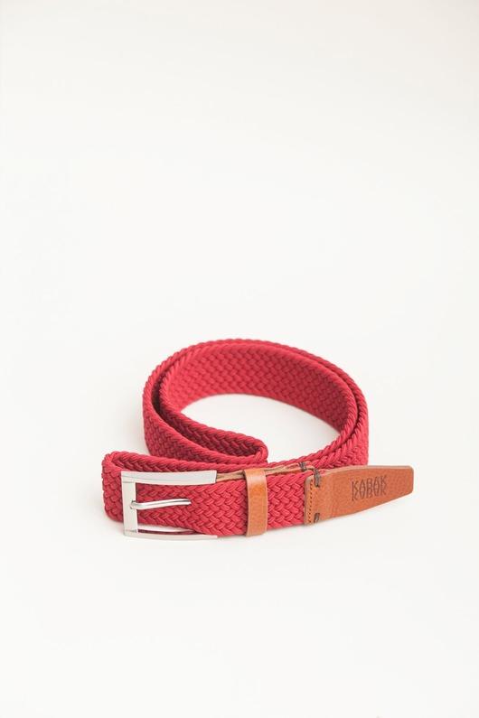 paski-Pasek pleciony czerwień