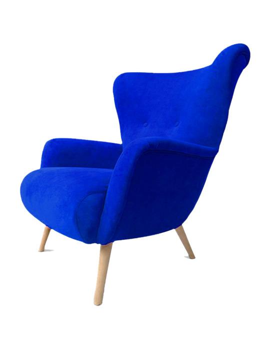 meble - fotele-Fotel Uszak Scandi , Retro , Lata 60