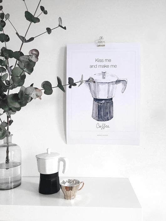 grafiki i ilustracje-Kawiarka | print| 30x40 cm