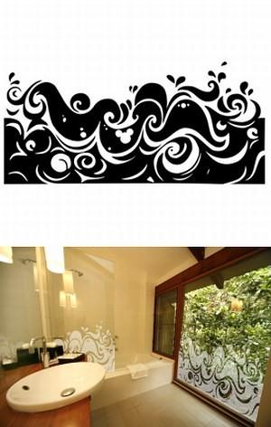 dodatki - inne-Naklejka na okno- florystyczna
