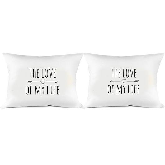 dodatki - poduszki, poszewki-Duże poszewki na poduszki THE LOVE OF MY LIFE