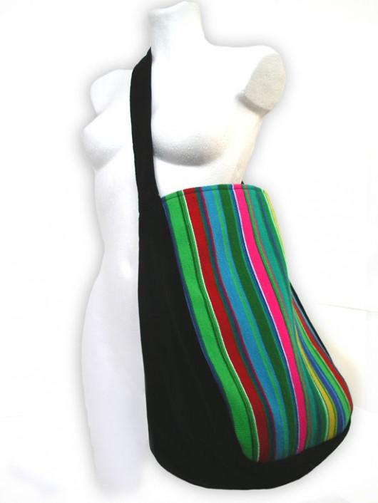 torby XXL - damskie-torba MEGA pasiak (tkanina artystyczna)