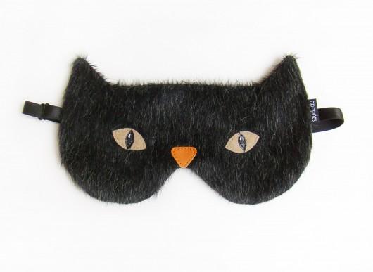 opaski na oczy-Opaska na oczy do spania - Kot