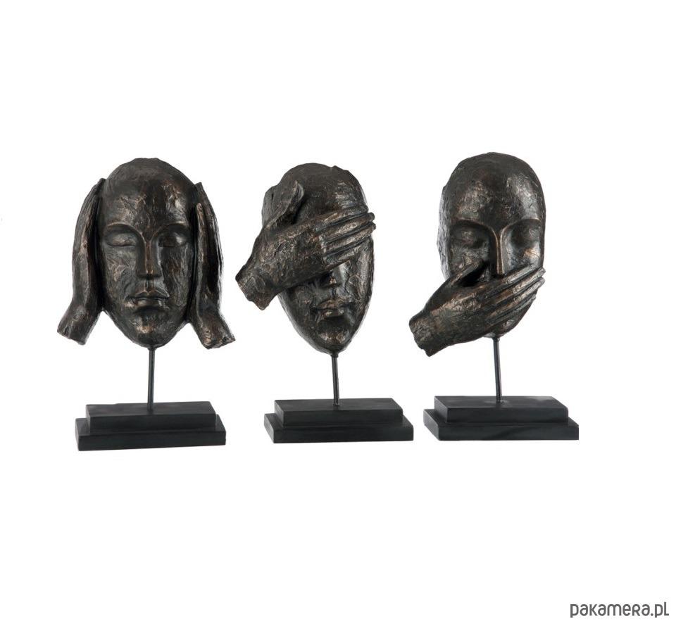Komplet rzeźb, figurek na stopce, głowy, twarze - 2041624