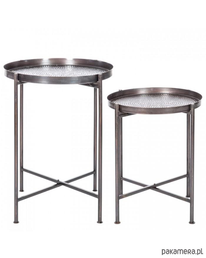 Stolik Metalowy Kpl 2 Szt Pakamerapl