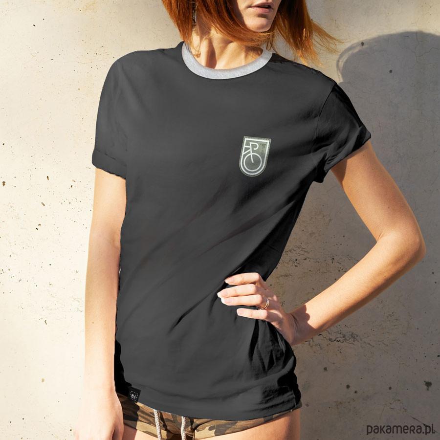 Koszulka damska odblask ROWER ciemnoszara