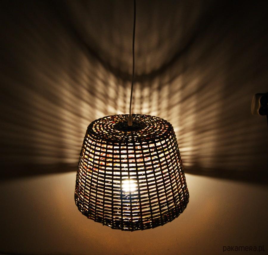 pleciony abażur klosz do lampy