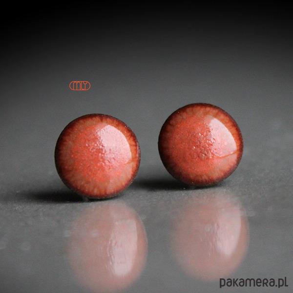Hibiskus 11mm/stal chirurgiczna/ - kolczyki - ceramika tuL0CRXF