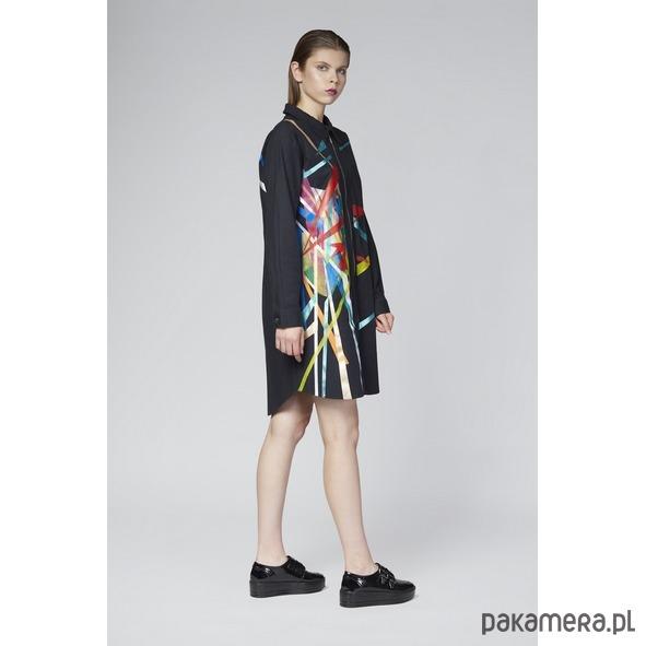 98d19c3587ebfe Koszula czarna z malowaną grafiką - Moda - bluzki - koszule ...