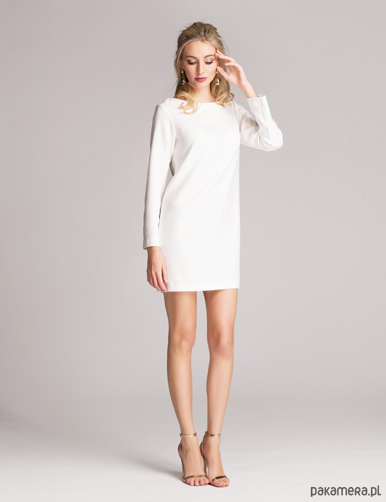 Sukienka pudełkowa ultranowoczesna biała