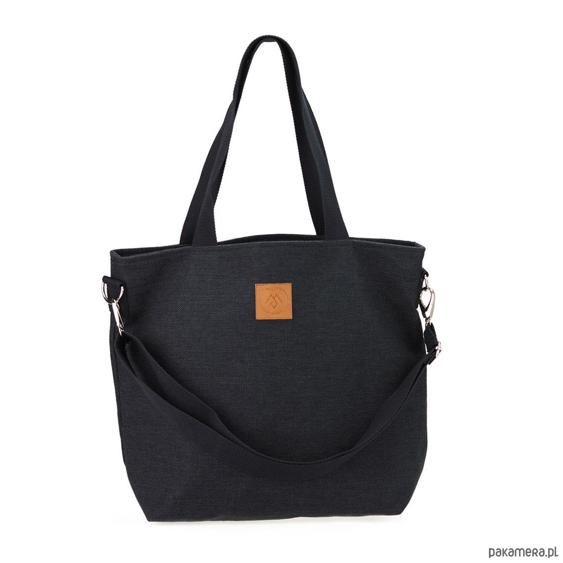 Duża torba shopperka Mili Duo czarna