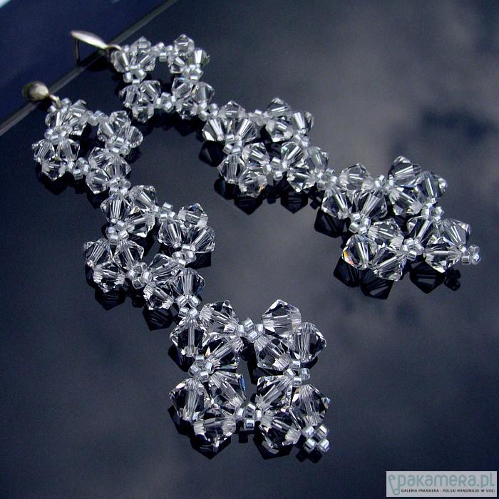 13073d53843830 Długie kolczyki ślubne kryształ Swarovski - Biżuteria ślubna ...