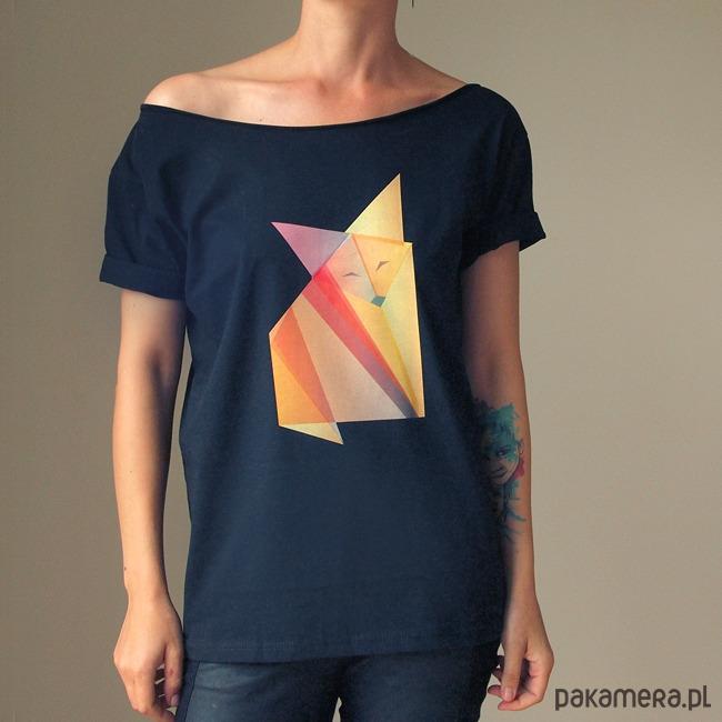 S-XXL Lis origami czarny Oversize