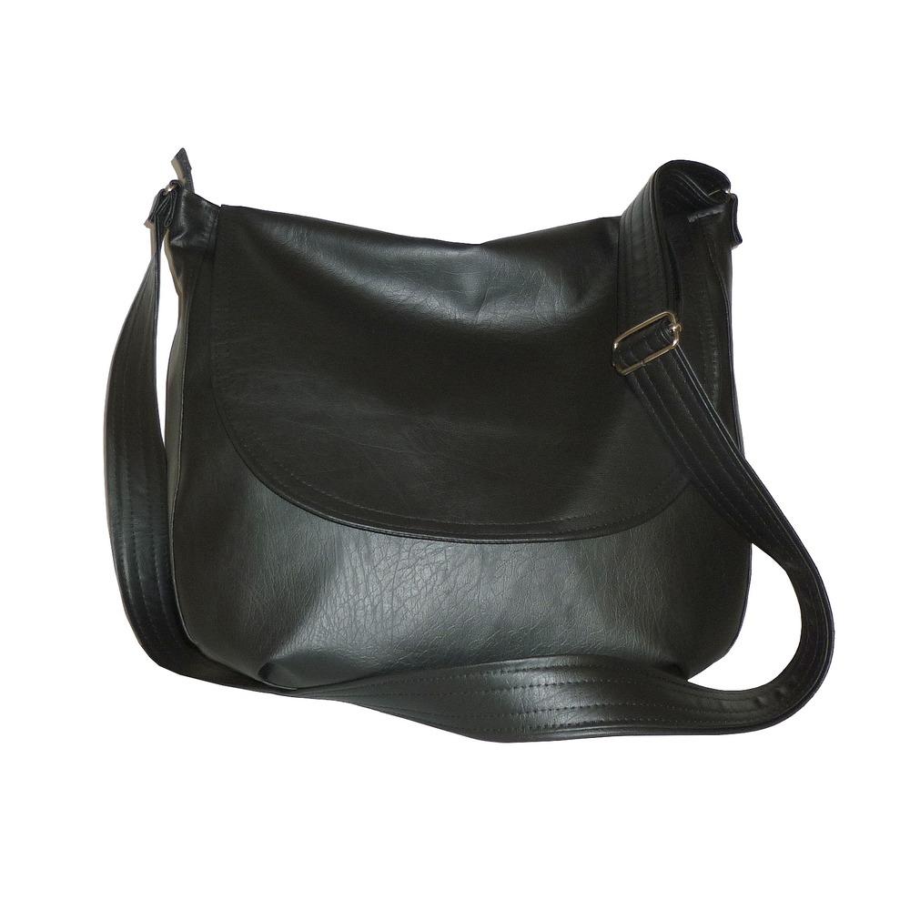 012522a8e091 torby na ramię - damskie-czarna listonoszka damska