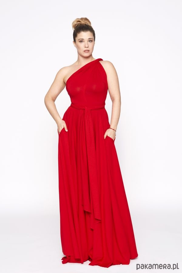sukienka maxi INFINITY DRESS MAXI red