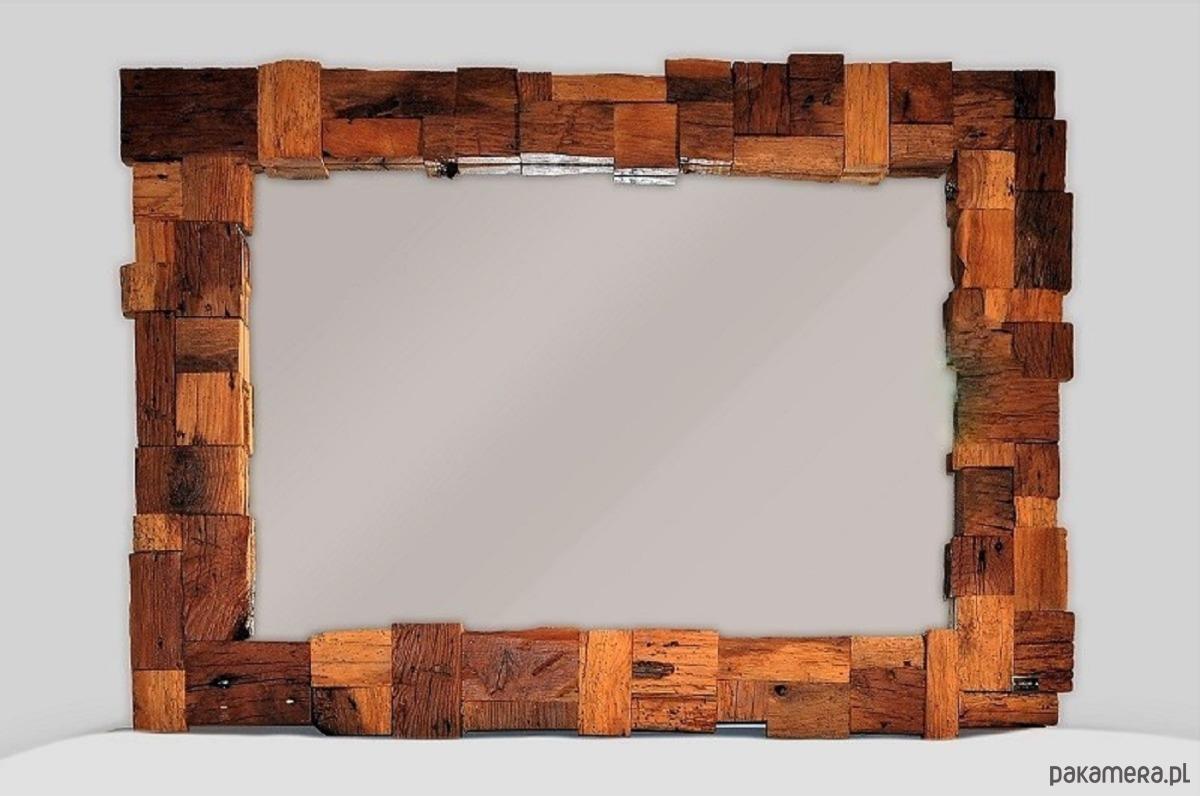 Unikalne Lustro Handmade Z Drewna Z Odzysku Pakamerapl