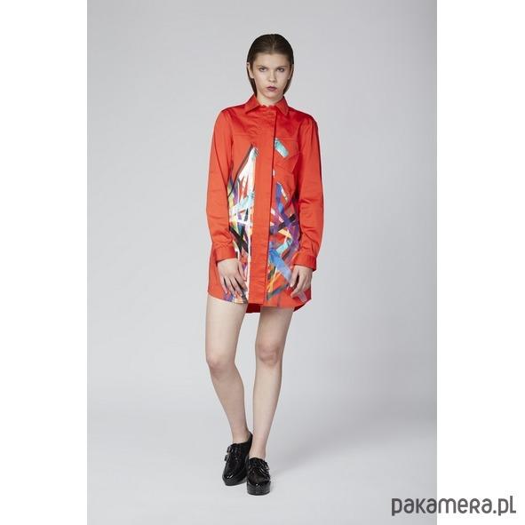 e5185dad819fc8 Koszula czerwona z grafiką - Moda - bluzki - koszule - Pakamera.pl