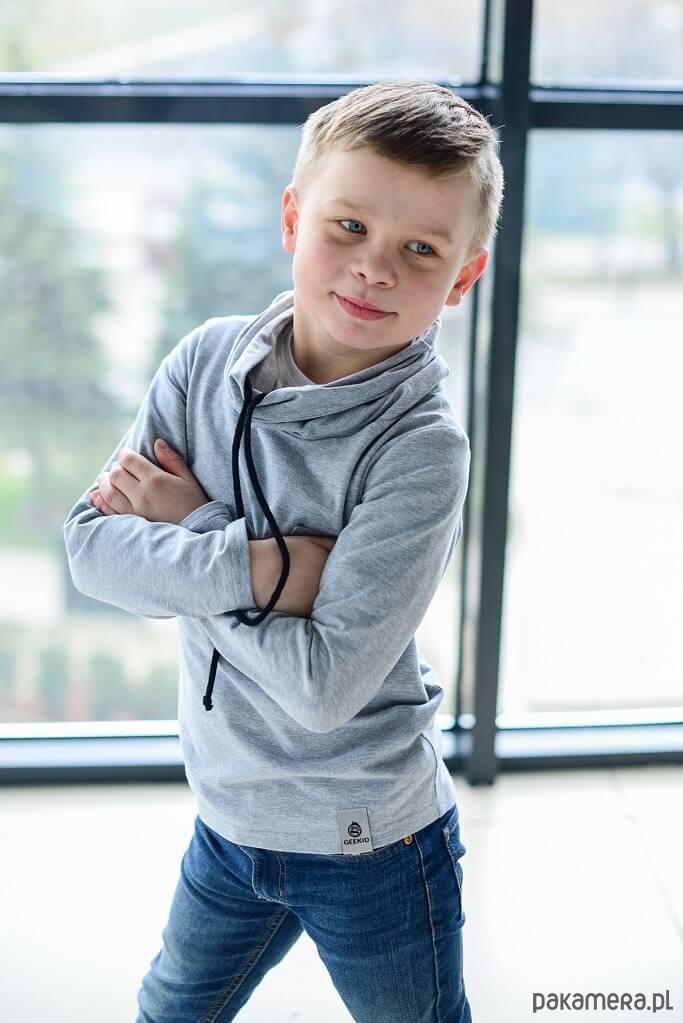 31db8c5599354f Bluza Chłopięca Z Kominem szara - chłopiec - bluzy - chłopiec ...