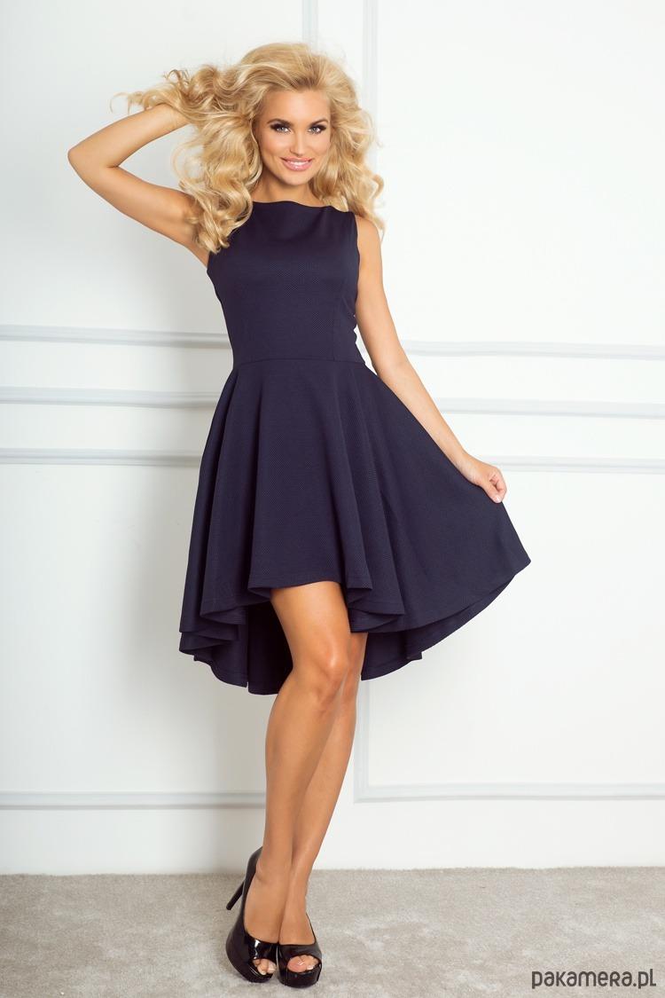 Ekskluzywna sukienka z dłuższym tyłem
