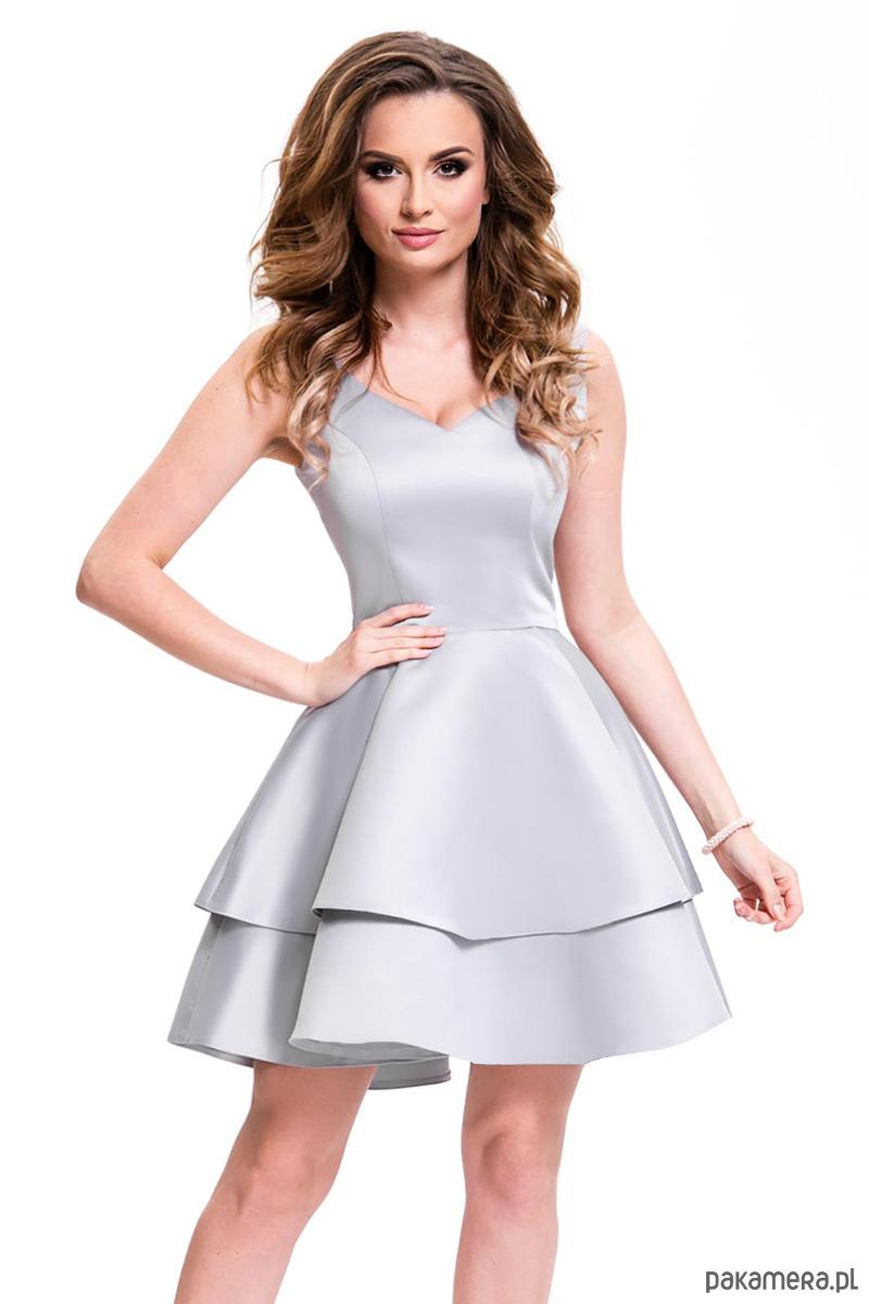 Sukienka z koła szara