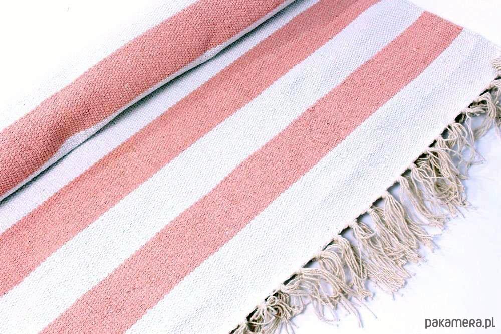 Bardzo dobry Dywan pasy różowe - dywany - Pakamera.pl ME74