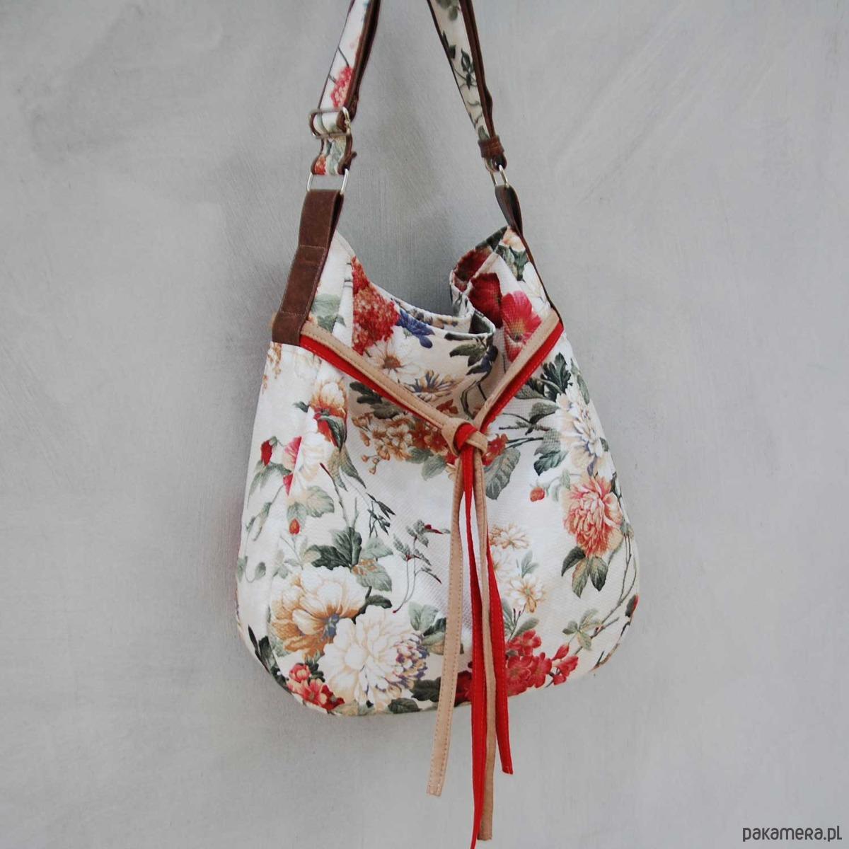 06d90681b5f0b SIMPLY BAG - duża torba worek - kwiaty - torby na ramię - damskie -  Pakamera.pl