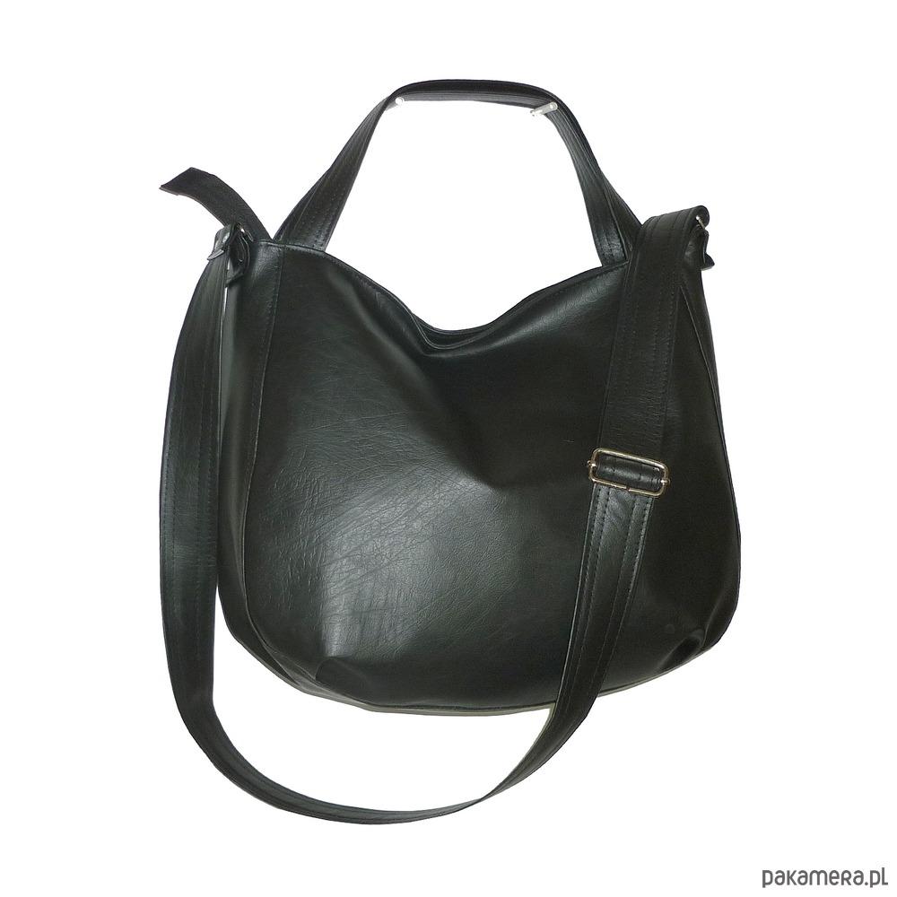 9ec8055a923d4 torby na ramię - damskie-czarny worek hobo
