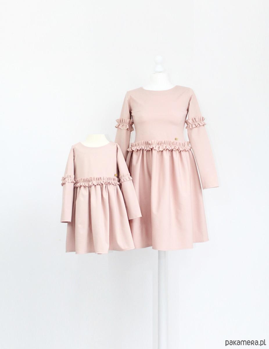 2b31cac517 Sukienka pudrowa z marszczeniami - dziewczynka - sukienki - Pakamera.pl