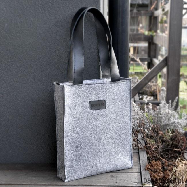 dfe3445f1a8c9 Top Glam - Klasyczna torebka z filcu - szara - torby na ramię - unisex -  Pakamera.pl