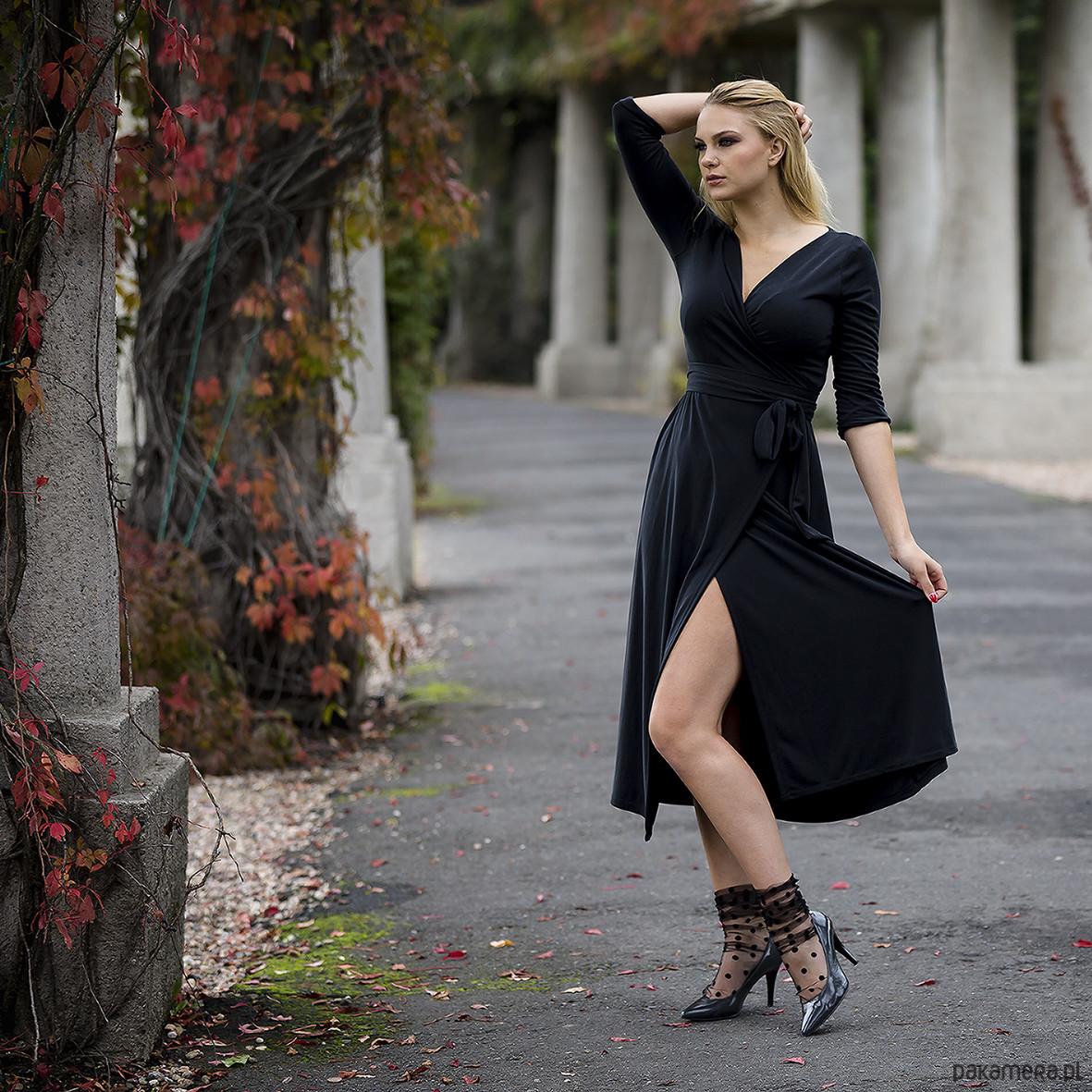 MARILYN elegancka kopertowa sukienka