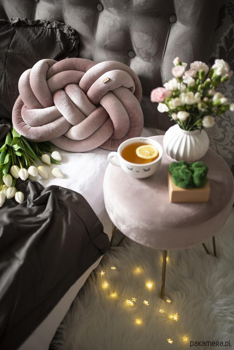 Supełpillow Aksamitny Pudrowy Róż Pakamerapl