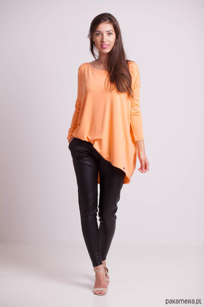 Bluzka luźna pomarańczowa
