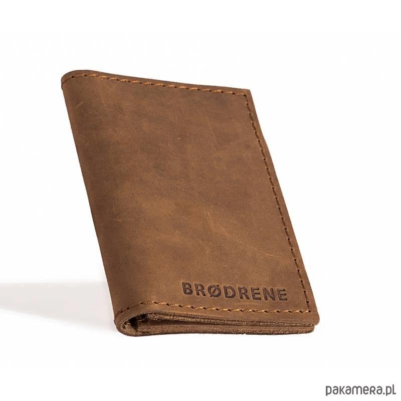 b974900efd27b Skórzany męski jasno brązowy cienki portfel - akcesoria - portfele ...