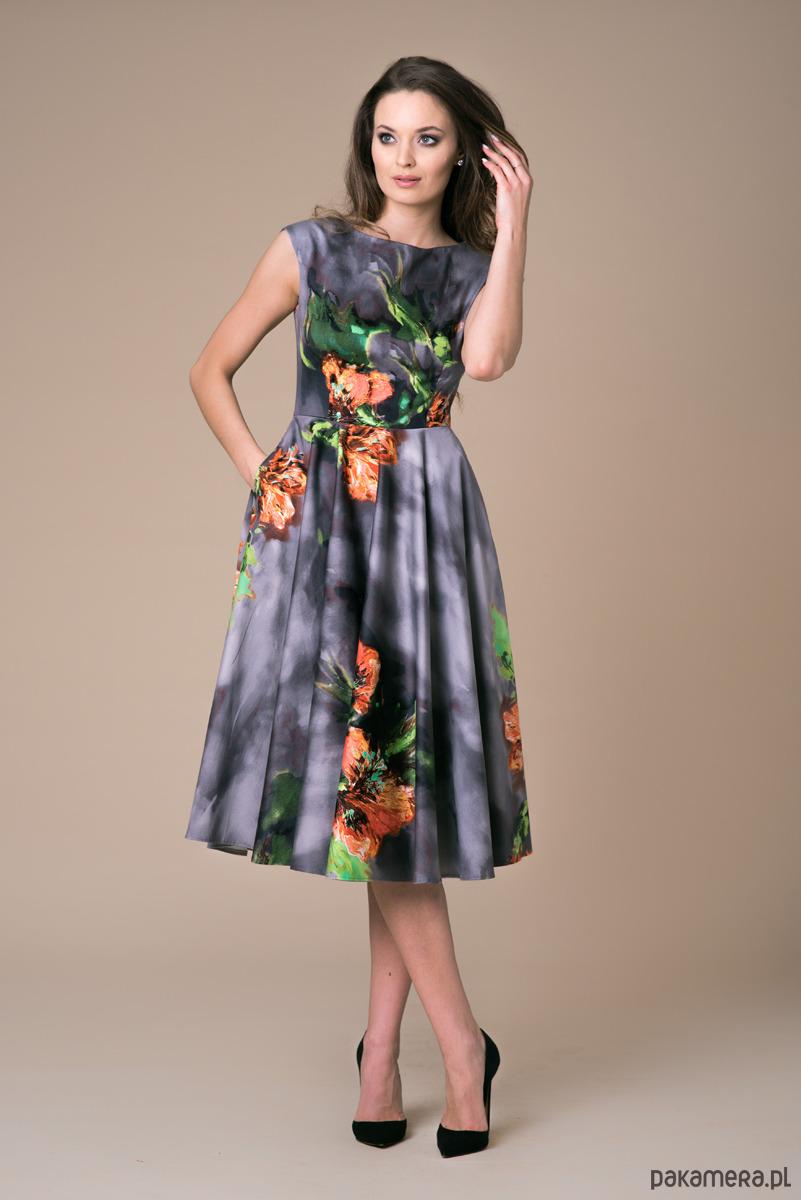 Sukienka Midi Azalea Bloosom popielata ombre
