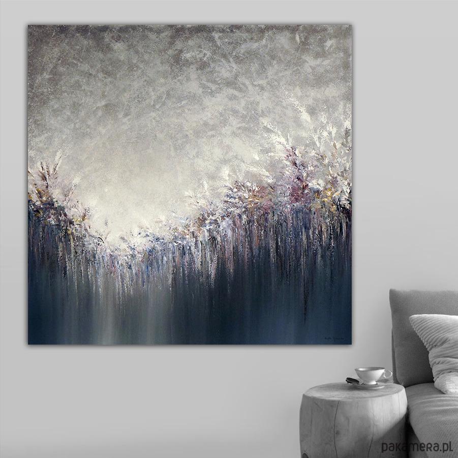 Płótno 100x100 Cm Obraz Farbami Akrylowymi Malarstwo Pakamerapl