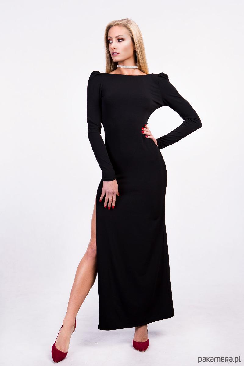 3a2d34ad755489 Moda - sukienki - maxi-sukienka maxi głęboki dekolt na plecach- czarna ...
