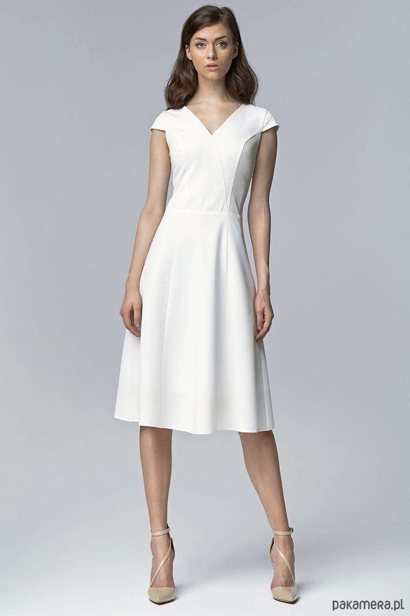 036228e71d2a44 Sukienka bez rękawów MIDI s60 - ecru - Moda - sukienki - midi ...