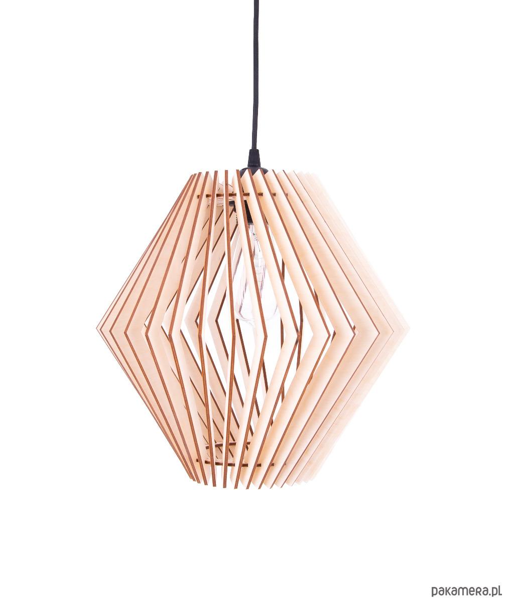 b62f77acce2c Lampa drewniana sufitowa do salonu wisząca - lampy - wiszące ...