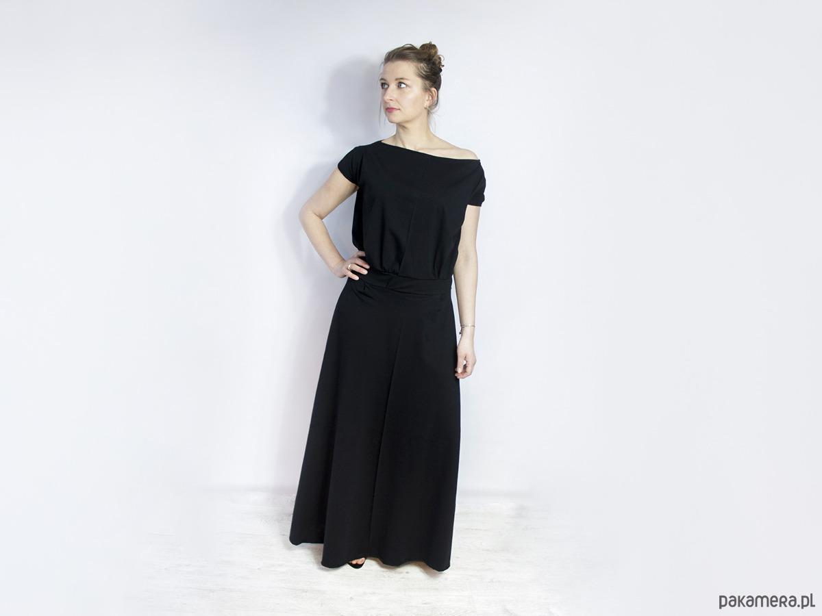 Sukienka UMUT dzianinowa długa czarna