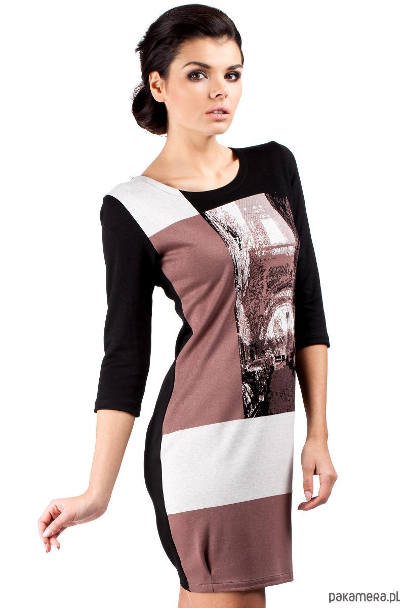Mini sukienka bombka wieża Eiffla